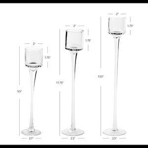 Long stem tea light/candle holders